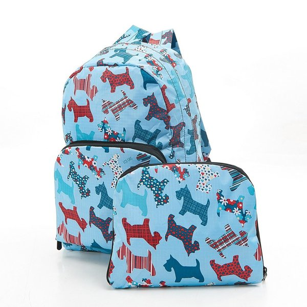 Scotty Dog Blue Expanding Backpack