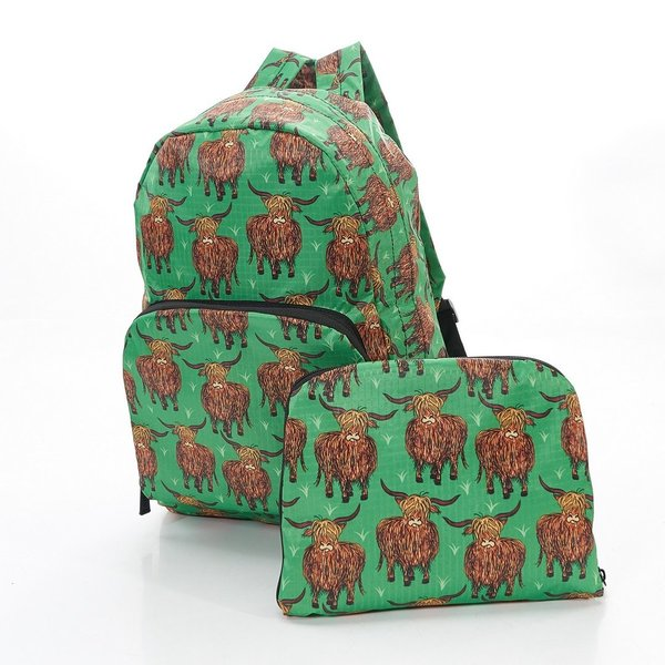 Green Highland Cow Backpack