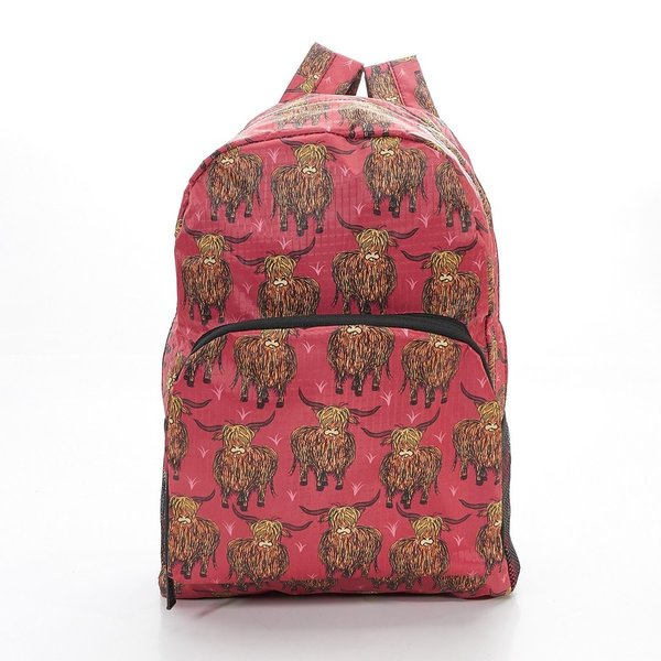 Red Highland Cow Backpack